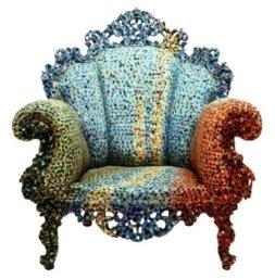 Poltrona di Proust, cadeira de braços, 100x100x100(H) cm @ Atelier Mendini